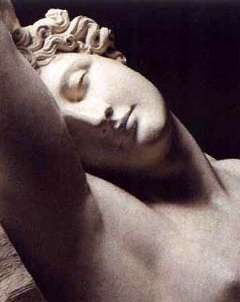 Image: A statue of woman asleep